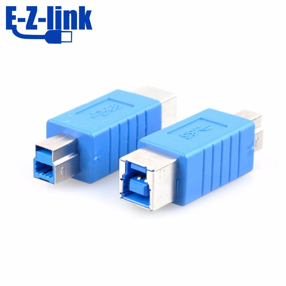 10pcs usb3.0 B female to printer B female converter adapter