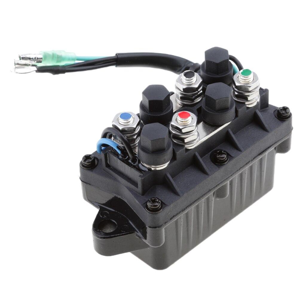 מזגנים 1 יח 2 Trim כוח 12V חוט Plug & ממסר עבור 40-225HP ימאהה 4 Stroke חיצון מנוע וכו Repalce 63P-81950-00-00 (4)