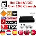 Caixa de TV Android Mini M8S Alemão Turco IPTV 2200 Canais + Holanda Espanha Portaguese Albanês IPTV Adulto Hot Club & VOD