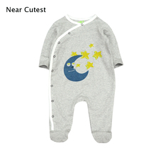 Near Cutest 100% Cotton Baby Romper Autumn Newborn Cotton Body Long Sleeve Underwear Infant Boy Girl Pajamas Clothes picturesque childhood thanksgiving 3 1 baby boy s floral romper baby pajamas cotton long sleeve five leaf flowers