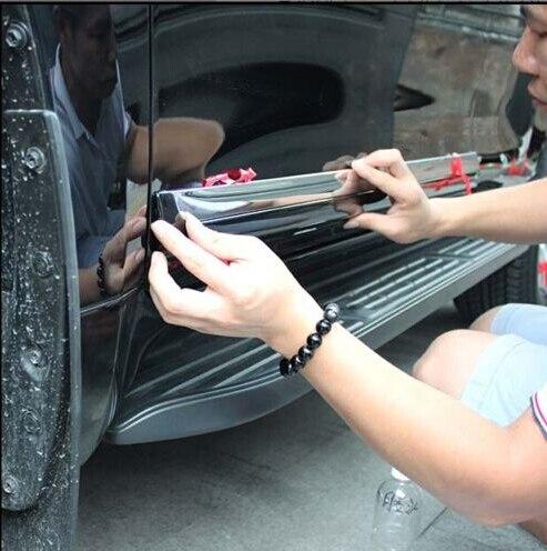 ABS Black Color Body Side Door Molding Trim Covers 4pcs ...