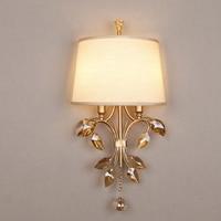 Простой двойной головкой Настенные светильники спальня исследование гостиная коридор лампы американский стиль село кованого железа стари