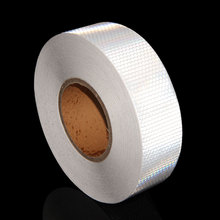 5CM x 50M White Safety Warning Reflector Retro Reflective Adhesive Sheets Tape Sticker Decal