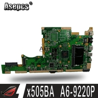 X505BA Motherboard For ASUS K505B A580B X505BP Laptop motherboard X505BA Mainboard test OK A6 9220P   CPU 4G  RAM|Motherboards| |  -