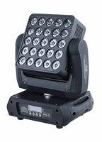 4 pçs/lote LED blinder luz dj 25X12W 4 em 1 RGBW levou feixe cabeça se movendo matriz de disco luz rotação infinita numuber efeito carta