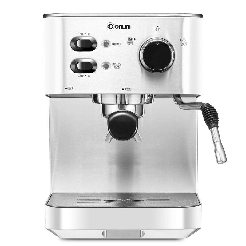 20 бар кофе машина итальянский бытовой коммерческий полуавтоматический высокой мощности 1050 Вт молокоотсос из нержавеющей стали Паровой Тип