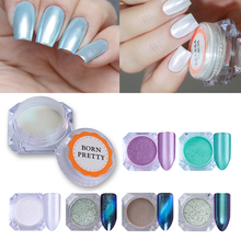BORN PRETTY Diamond Mirror Pearl Nail Art Glitter Powder Mermaid Shimmer Shining Makeup Pigment Manicure Accessories
