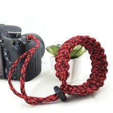 Digitālās fotokameras plaukstas rokas siksnas rokturis āra izdzīvošanai Paracord aproce Nikon Canon Sony Pentax Minolta Panasonic SLR DSLR