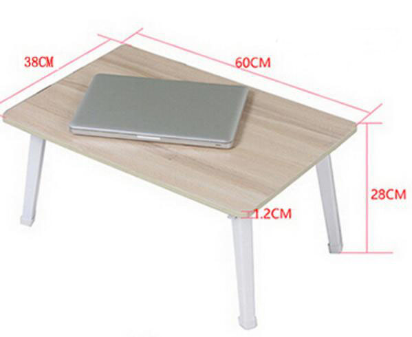Folding Wood Laptop Table Lazy Bedside Table Notebook Computer Desk 120 45cm portable bedside notebook table mutil purpose rremovable computer desk lazy laptop desk children study desk with wheels