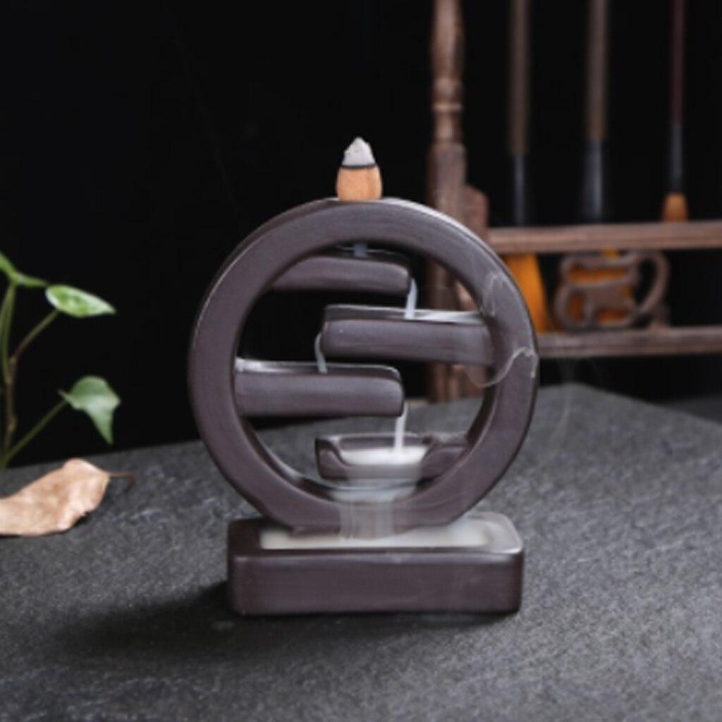 20Pcs Square Incense Ceramic Backflow Incense Burner Creative Incense Holder Censer Beautiful and Elegant Indoor office Ornament