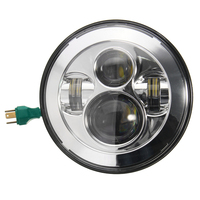 1 PCS 7 Inch Chrome CREE LED Projector Daymaker Hi Lo Beam 40w Headlight For Harley