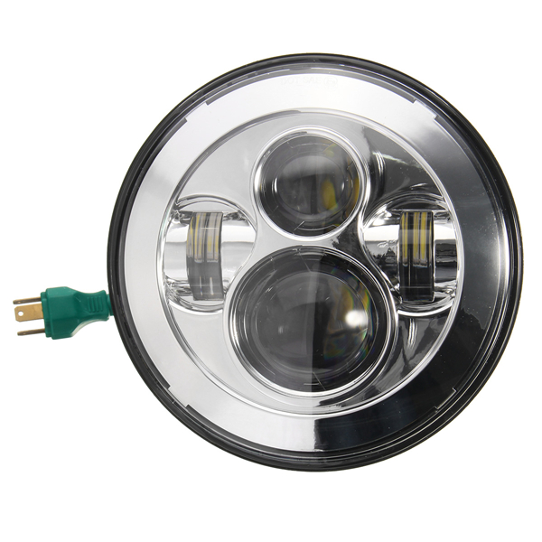 ФОТО 1 PCS 7 Inch Chrome C~REE LED Projector Daymaker Hi/Lo Beam 40w Headlight for Harley Daviddson Motorcycle