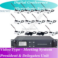 Micwl 1 Председатель до 60 делегата Микрофон Pro Видео телеконференции Функция Проводной Цифровой Аудиосистемы для конференций