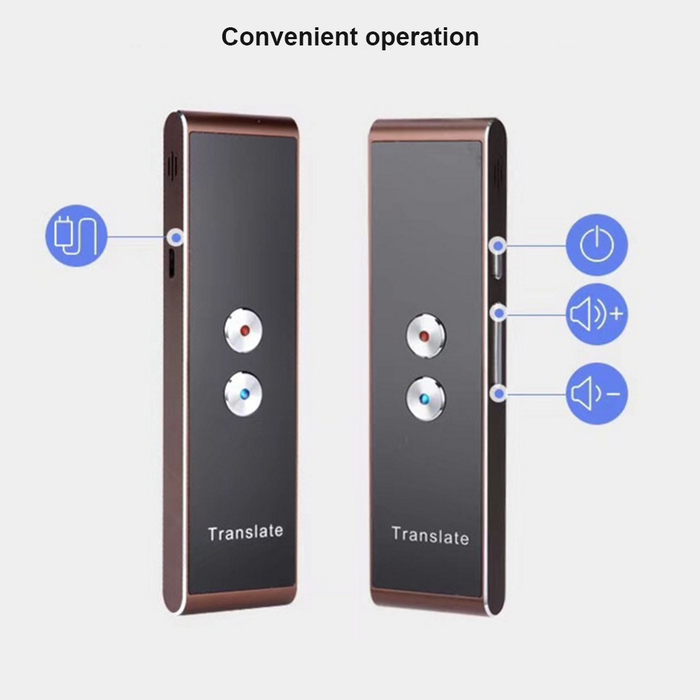 Smart Voice Speech Translator Two-Way Real Time 30 Language Translation for Travelling Meeting New SL@88