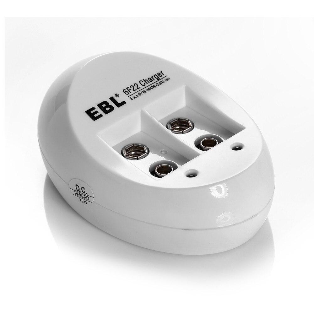 Ebl Портативный Батарея Зарядное устройство для <font><b>6F22</b></font> Ni-MH NI-CD Аккумуляторы Универсальный Бесплатная доставка