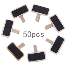 50pcs/lot  Factory Supply Blackboard Clamps Note Folder Photo Clip Mark  Chalkboards Paper Clips Message Folders Mini Wooden