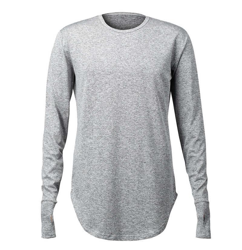 332536f7f Mens Workout Shirts Thumb Cuff Design Crossfit Sport T Shirt Men Long  Sleeve Casual Gym Tshirt
