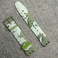 heat! Applicable to for swatch Swatch silicone strap Olive green SUOG105 watch accessories Needle buckle rubber watch band