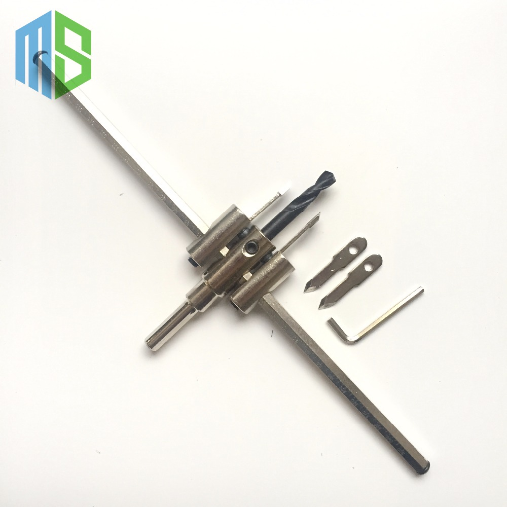 цена на 30mm-300mm Adjustable Wood Drywall Circle Hole Drill Cutter Bit Saw Use 300mm Circle Hole Saw Cutter Drill Bit Drop Shipping