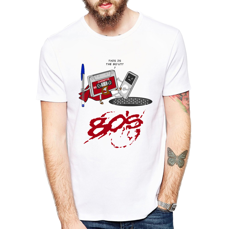 Creative Cartoon 80s Cassette   T     Shirt   Men's Personalized I am Awesome Printed   T  -  Shirt   Summer Male Short Sleeve Tops Tee