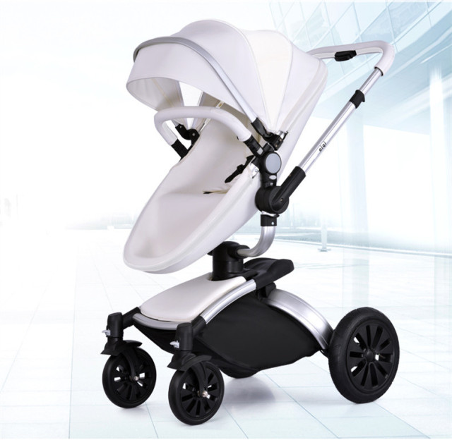 2017 Aiqi strollers 360 Degree Baby Stroller Rotating Light Leather baby Two-way Shock Absorbers 2 In 1 Folding Send 8 Gift