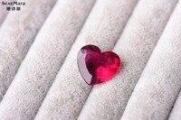11.08ct Рубеллит Цвет идеально мерцаний поверхность кольца сердце большой