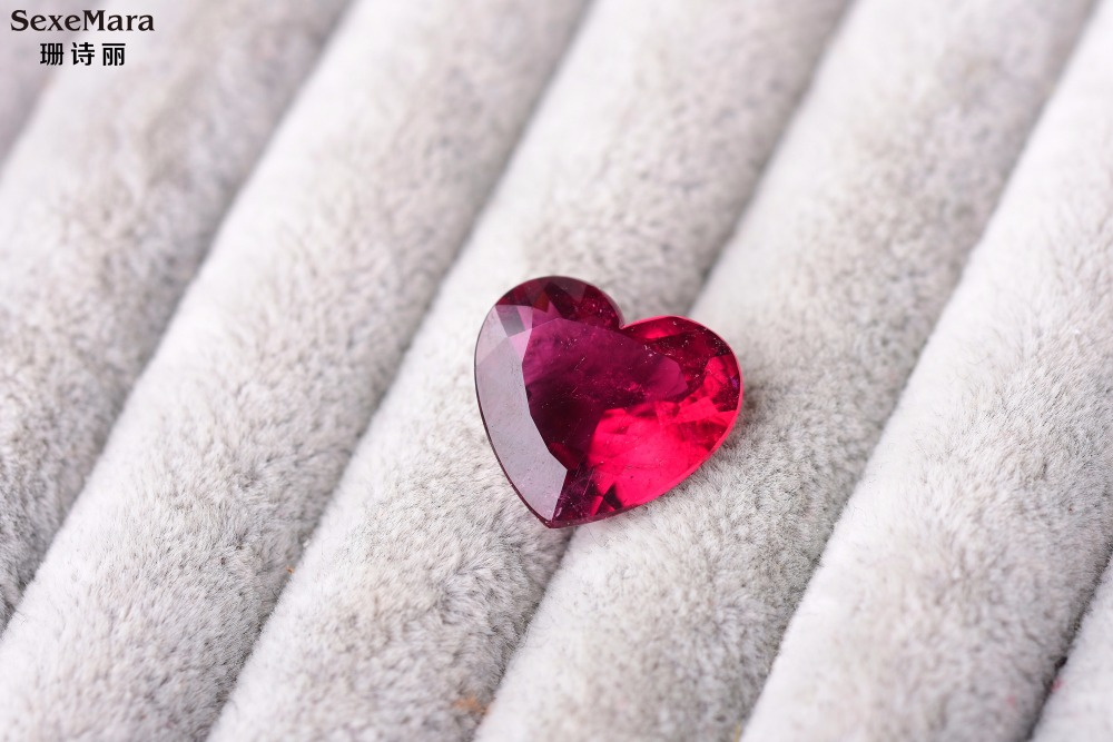 11.08ct rubellite Color Perfect scintillation ring surface heart big