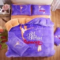 Новый год Штаны для девочек с рождественским изображением принцессы постельных принадлежностей покрывала twin Замороженные постельный комп