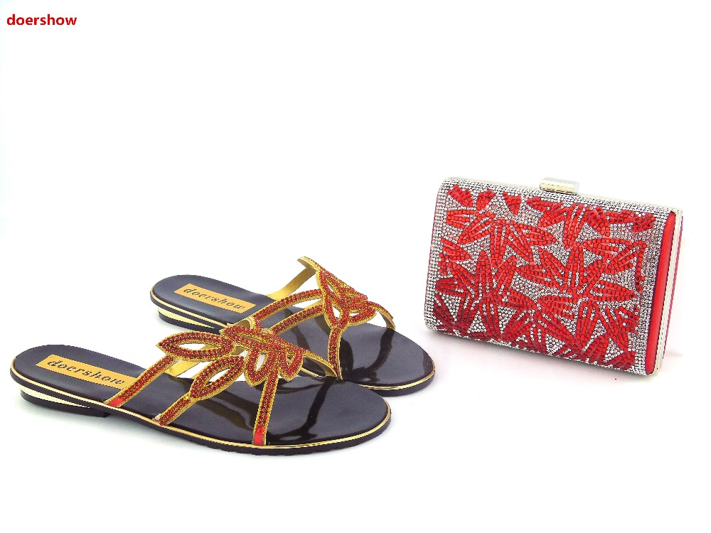 doershow New Arrival African Women Matching Italian Shoe and Bag Set Decorated with Appliques Nigerian Shoes and Bag!HZO1-1 doershow new fashion italian shoes with matching bags for party african shoes and bags set for wedding shoe and bag set wvl1 19