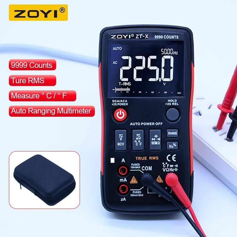 ZOYI ZT-X цифровой мультиметр ac dc Вольтметр true rms Авто Диапазон мультиметр с НТС удержания данных ЖК-дисплей подсветка дисплей