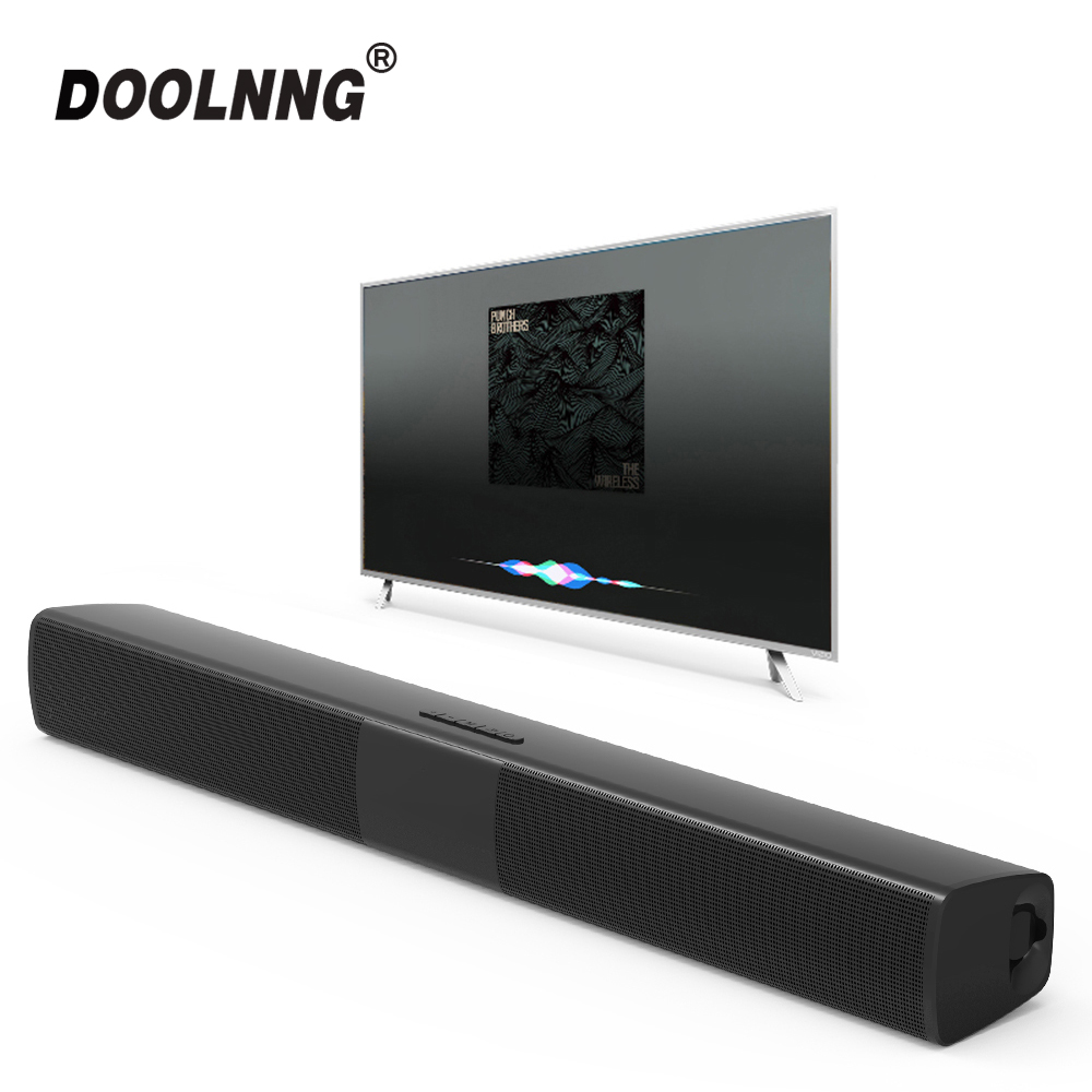 DOOLNNG BS-28B TV Bluetooth Speaker 20W Soundbar Home Theater Wireless 3D Surround Stereo Bass Subwoofer Portable Speakers
