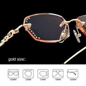 Image 5 - الماس قلص بدون شفة نظارات للقراءة النساء عالية الجودة موضة العلامة التجارية الفاخرة مكافحة الضوء الأزرق طويل النظر سيدة النظارات Q104