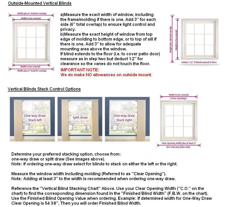 How To Measure Accurately For Window Vertical Blinds Curtains