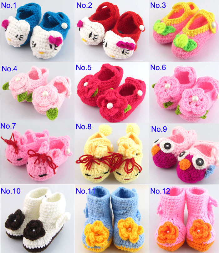 2pairslot Crochet Baby Toddler Shoes Baby Girl Crochet Knit Sandals