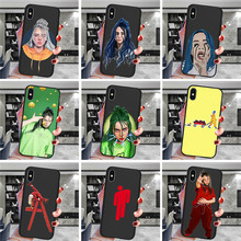 Billie eilish For iPhone X XR XS Max 5 5S SE 6 6S 7 8 Plus Oneplus 5T Pro 6T phone Case Cover Funda Coque Etui funda capinha karl lagerfeld for iphone x xr xs max 5 5s se 6 6s 7 8 plus oneplus 5t pro 6t phone case cover funda coque etui funda capa cute
