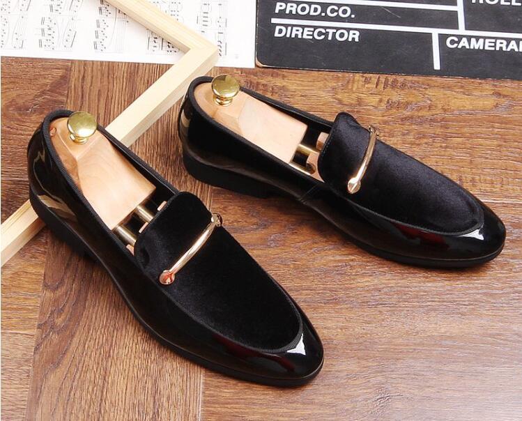 De Zapatos Black 2019 Britannique Chaussures Oxford Luxe Bal blue Marque Mâle Hombre Hommes Gentleman Homecoming Mariage Designer Pointu Velours TE8wZwqHnx