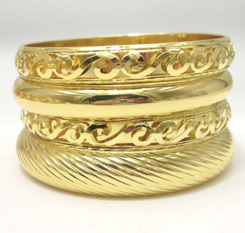 LADYMEE Gold Color Metal Fashion Bracelet Bangles Indian Jewelry