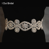 2014 Free Shipping Crystal Rhinestone Floral Shape Bridal Belt Wedding Dress Sash Dress Jewelry 010