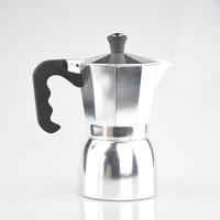 Stove top Aluminium Moka Pot Italian Coffee Brewing Accessories Espresso Mocaccino Maker 3/6 Cups Counted