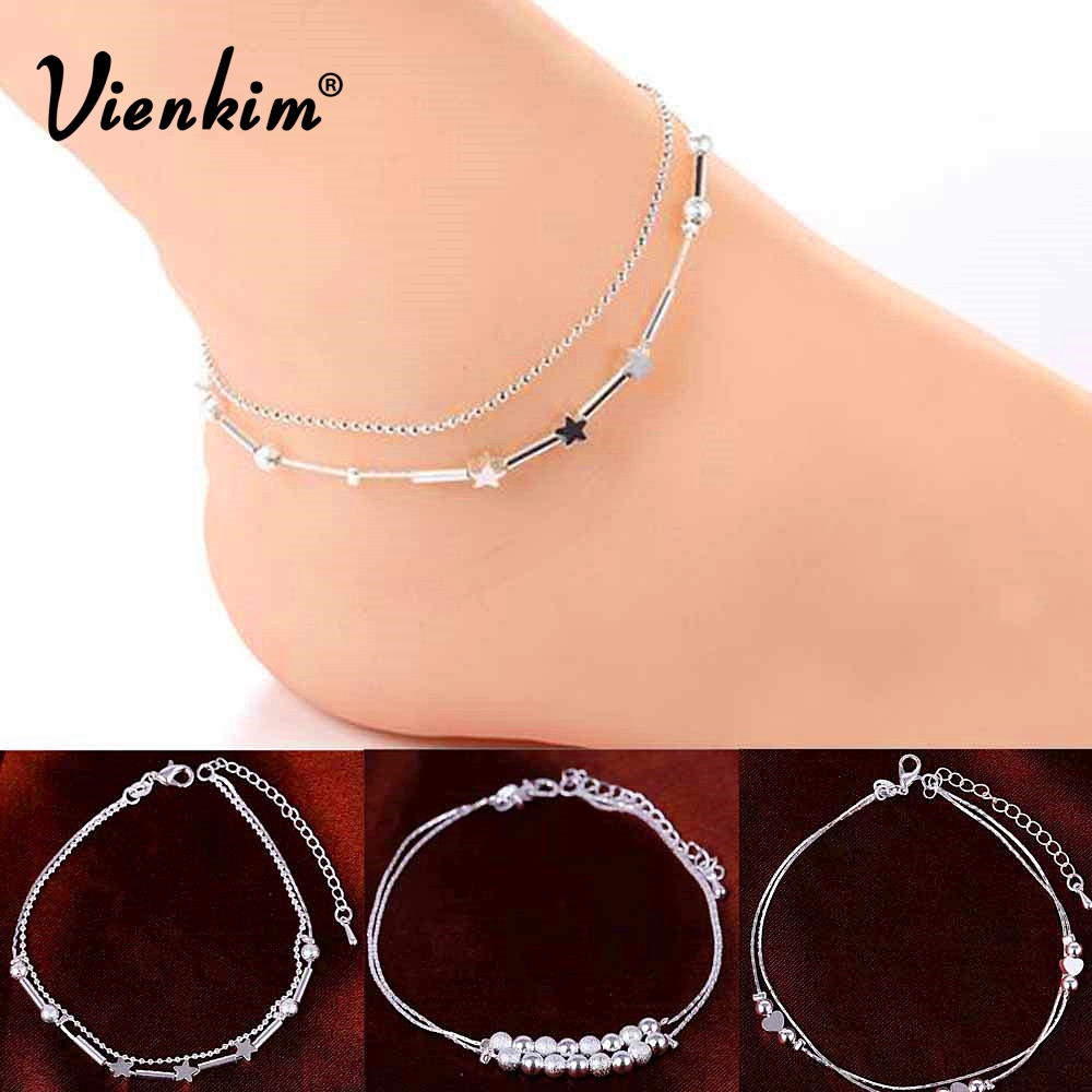 Vienkim 2018 Fashion Women Chain Anklet Bracelet Barefoot Sandal Beach Foot Jewelry Jewelry Gifts