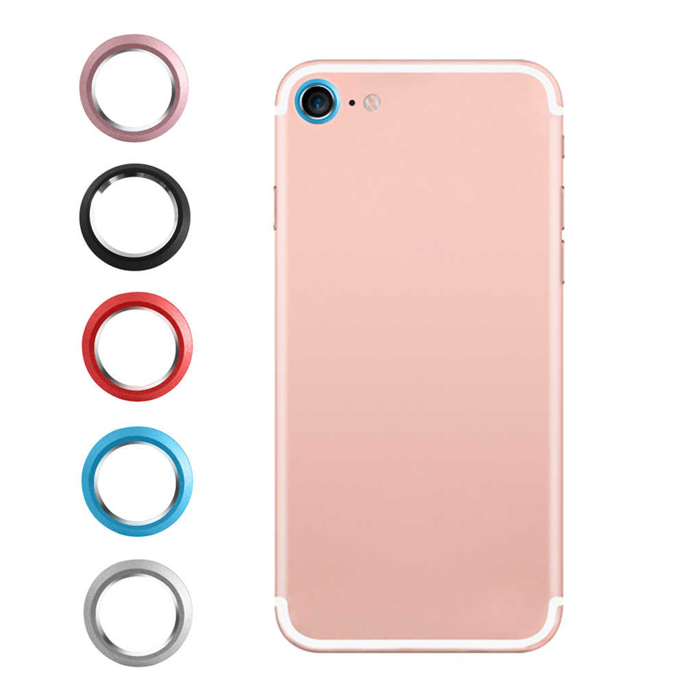 1PC Guard Circle Smart Phone Camera Metal Rear Camera Lens Protector Case Cover Ring Bumper for iphone 7 8 Lens Protection Ring