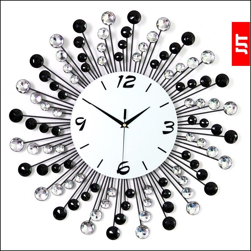 Luminousness большой Роскошные немой настенные часы моды Современные часы и смотреть моды творческие часы