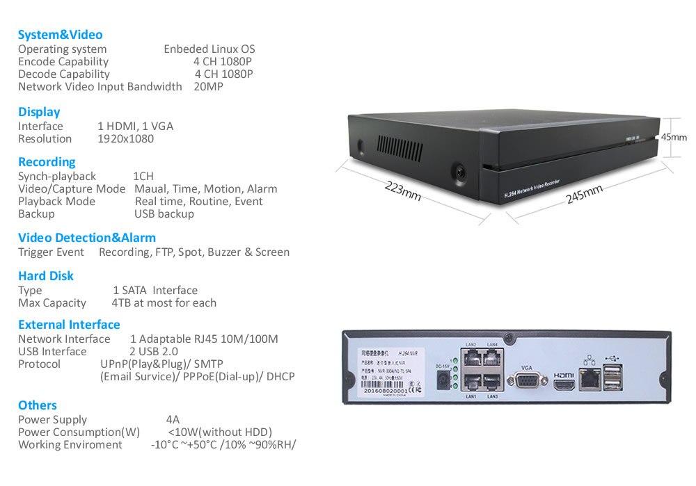 4ch poe security system K4N34W54I2A-83P 12