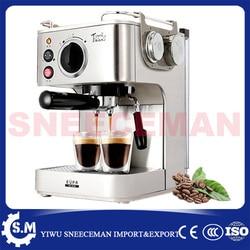 professional semi- automatic household coffee making machines stainless steel steam coffee pot milk coffee machine