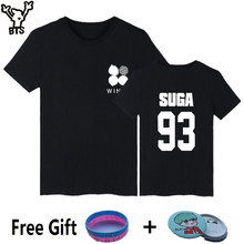BTS T-shirt Women Short Sleeve Cotton Popular Korean Bangtan Kpop Tee Shirts Womens Summer Fashion Hip Hop Wings Album T Shirts