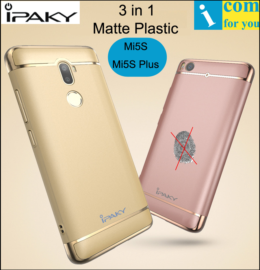 iPaky 3 in 1 Plastic Case For Xiaomi Mi5S Plus Snapdragon 821 Matte plated Plating Ultra thin Protector Cover Mi 5S