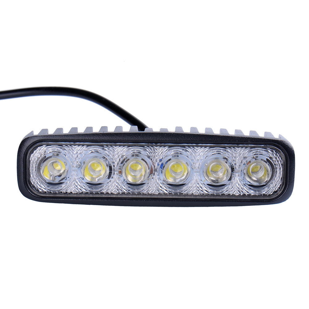 6inch 18W 12V LED Daytime Running Light Fluorescent Light For Car Indicator Motorcycle Driving Offroad Tractor