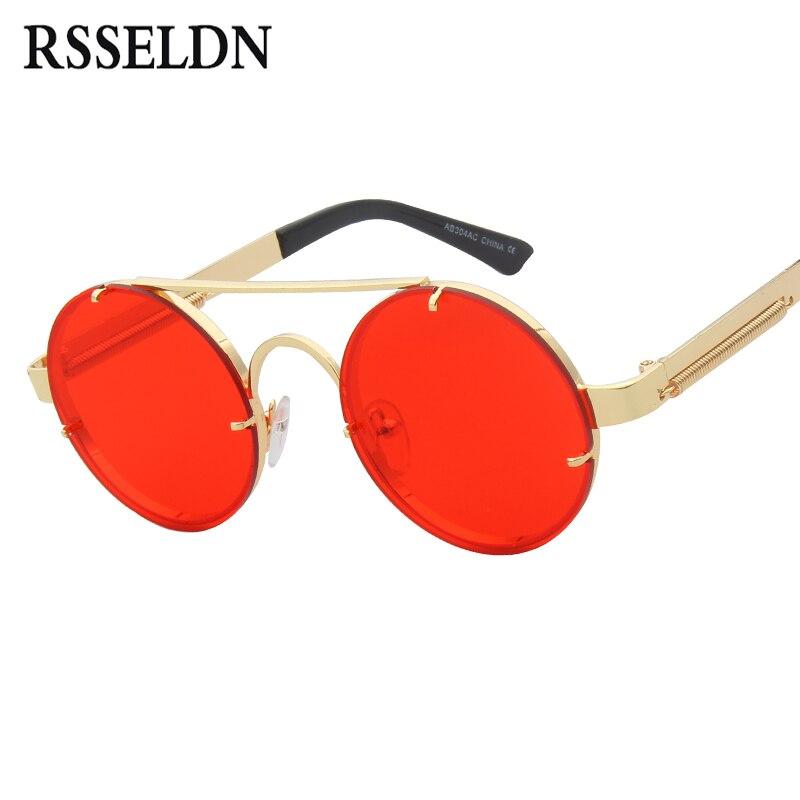 RSSELDN New Steampunk Óculos De Sol Dos Homens Designer de Moda ... d40c27a1e8