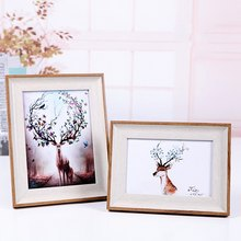 New Wooden Multi Photo Frame Picture Frames Wall Hang Collage Colorful Set Wall Decoration Accessories(China)