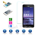 Free Shipping 9H Premium Tempered Glass Screen Protector Toughened protective film FOR ASUS ZENFONE 4 A400CG + Cleaning Kit